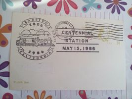 1986 CENTENNIAL STATION MAY 15, 1986 FIRST DAY ISSUE CANCELLED - $1.50