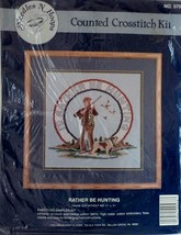 """I'd Rather Be Hunting Counted Cross Stitch Kit 11"""" x 11"""" Needles 'N Hoop... - $39.59"""