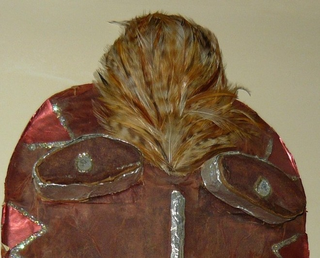 Wiccan Feathered Handmade Wall Mask To Ward Off Evil