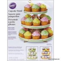Wilton 3-TierCake Cupcake Tree Stand Party Birthday Decoration Kit White... - $11.86
