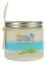Florida Salt Scrubs Lemongrass Body Feet Hands Bath Salt Scrub 24.2 oz Jar - $29.99