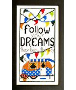 Follow Your Dreams cross stitch chart Bobbie G Designs - $7.20