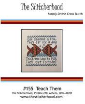 Teach Them cross stitch chart The Stitcherhood - $9.00