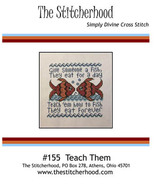 Teach Them cross stitch chart The Stitcherhood - $9.00