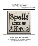 Spells Cast Here halloween cross stitch chart The Stitcherhood - $9.00