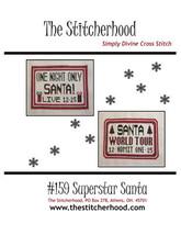 Superstar Santa christmas cross stitch chart The Stitcherhood - $9.00