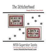 Superstar Santa christmas cross stitch chart The Stitcherhood - $9.00