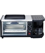 TOASTER-OVEN-COFFEE-MACHINE-FRY-PAN-ALL-IN-ONE-KITCHEN-APPLIANCE-SPACE-S... - $72.15