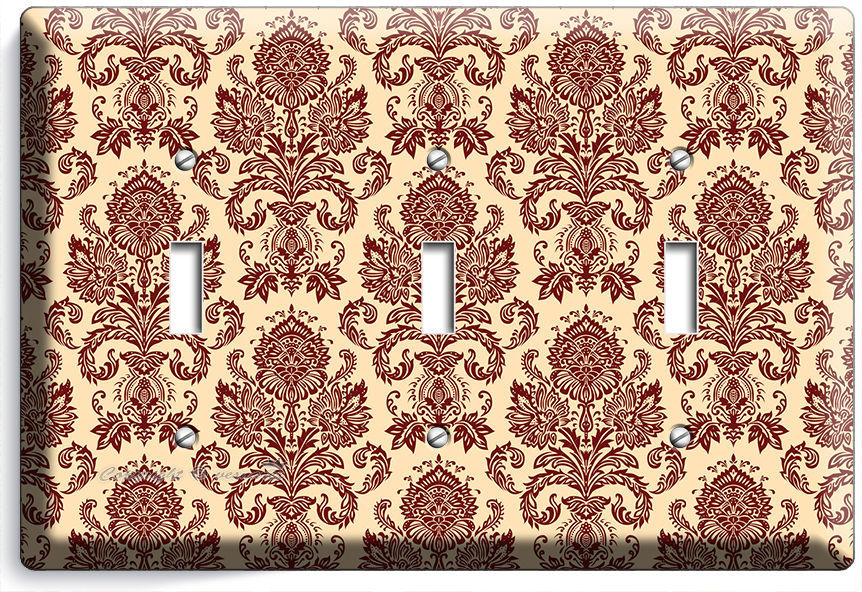 Primary image for VICTORIAN PATTERN TRIPLE LIGHT SWITCH WALL PLATE COVER BEDROOM LIVING ROOM DECOR