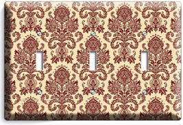 VICTORIAN PATTERN TRIPLE LIGHT SWITCH WALL PLATE COVER BEDROOM LIVING RO... - $14.57
