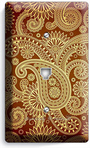 DAMASK PAISLEY PATTERN PHONE JACK TELEPHONE WALL PLATE COVER LIVING ROOM... - $9.89