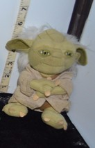 "Awesome Star Wars YODA Jedi Master 6"" Tall Cloth Doll w/Beige Burlap Coat - $8.44"