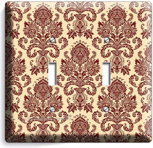 VICTORIAN PATTERN DOUBLE LIGHT SWITCH WALL PLATE COVER BEDROOM LIVING RO... - $10.79