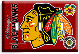 CHICAGO BLACKHAWKS HOCKEY TRIPLE LIGHT SWITCH WALL PLATE GAME BOYS ROOM ... - $14.57