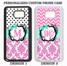 POLKA DOTS PINK DAMASK CHEVRON CUSTOM MONOGRAM Case For Samsung Galaxy S... - $11.99+