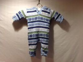 Baby Boy Small Wonders Blue One Piece Cover All, 3-6 Months