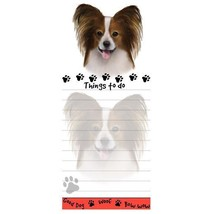 PAPILLON DOG DIECUT LIST PAD NOTES NOTEPAD Magnetic Magnet Refrigerator - $6.99
