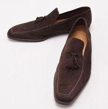 Handmade men brown suede leather mocassins, Men dress shoes, Men brown shoes - $159.99
