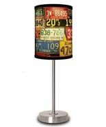LICENSE PLATES  Shade  Lamp In A Box Silver Spo... - $49.49