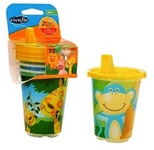 Evenflo Zoo Animals Sippy Cups 12 Pk. Feeding Cubs Utensils For The Baby... - $19.51