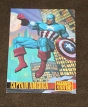 DC VS MARVEL 1995 FLEER/SKYBOX PROMO CARD 2 CAPTAIN AMERICA - $1.29