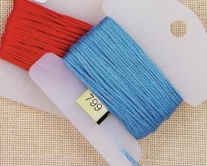 Plastic Small Floss Keys pack 500 floss storage cross stitch