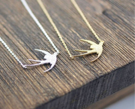 Swallow Bird Necklace In 2 Colors - $12.50