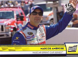 Marcos Ambrose 2009 Press Pass Series 2  Blue Parallel Rookie Card #121 - $1.99