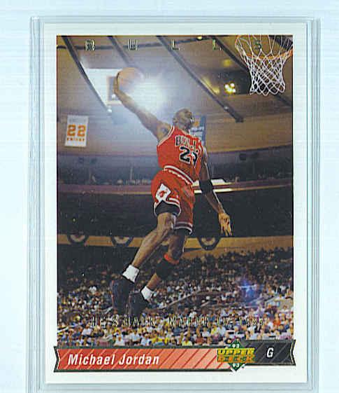 4da47318692dea MICHAEL JORDAN (Chicago Bulls) 1992-93 UPPER DECK HE S BACK MARCH 19