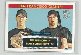 Tim Lincecum/Nate Schierholtz (San Francisco) 2007 Topps 52 Rookie Card #Dd1 - $5.89