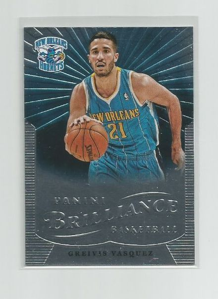 GREIVIS VASQUEZ (New Orleans) 2012-13 PANINI BRILLIANCE STARBURST PARALLEL #137