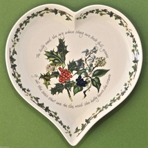 NEW Portmeirion Holly & Ivy Large 10 Inch Heart... - $24.95