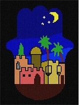 Hamsa Jerusalem (Small) Needlepoint Kit - $74.25
