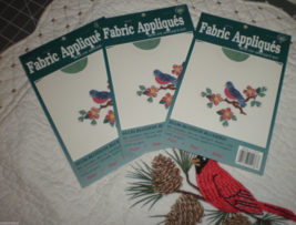 What's New Iron On Fabric Applique Kit Blossom Bluebird  Lot of 3 sealed - $21.00