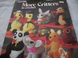 More Critters To Crochet Craft Book - $10.00