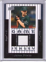 JAMES SHIELDS (Tampa Bay Rays) 2008 UPPER DECK GAME USED JERSEY CARD #97-JS - $4.99