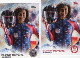 ELANA MEYERS (Bobsled) 2014 TOPPS OLYMPIC & PARALYMPIC SILVER & REG CARD... - $2.99