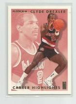 Clyde Drexler (Houston) 1993 94 Fleer Clyde Drexler Career Highlights #9 - $1.99