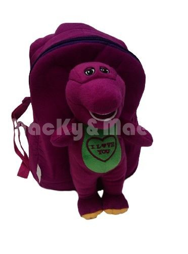 Plush Barney Purple Dinasour Baby Bob Backpack