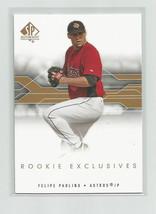 FELIPE PAULINO (Houston Astros) 2008 UPPER DECK SP AUTH ROOKIE EXCLUSIVE... - $3.99