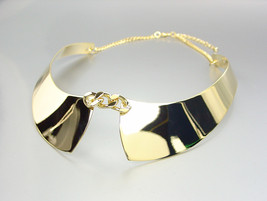 CHIC UNIQUE & STYLISH Gold Plated Faux Collar Chain Choker Necklace - €16,17 EUR