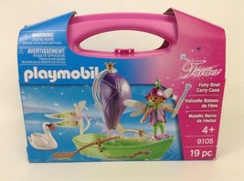 Playmobil Fairies Fairy Boat Carry Case Building Set 9105 -New in Box - $16.88
