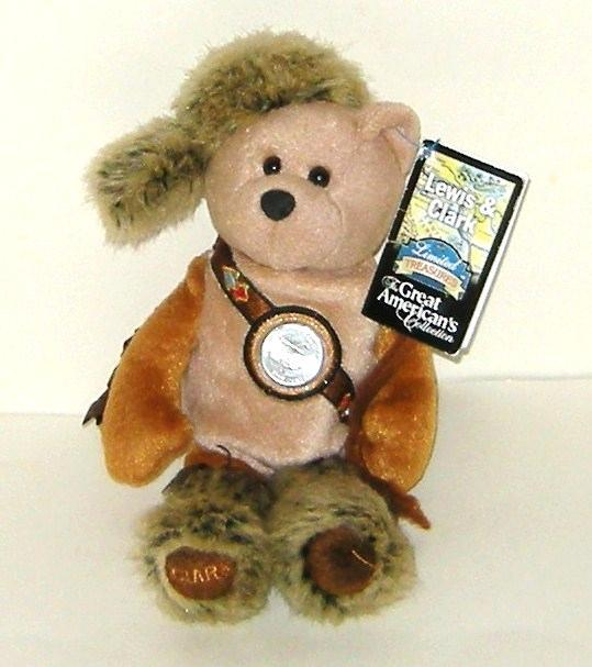 Primary image for 1/2 off! Limited Treasures Discovery Bears Lewis & Clark Bean Bag Bear NWT 2005