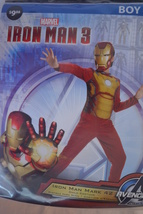 Iron Man 3 Costume - Style# 55638L-Jumpsuit&Mask-Childs' Size: Small(6)-NEW - $15.99