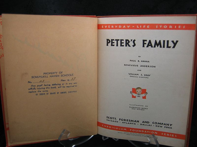 Peter's Family Paul R. Hanna 1935 Everyday Life Stories
