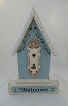 Wall Hanging, Wooden Bird House, Shabby Chic - $22.00