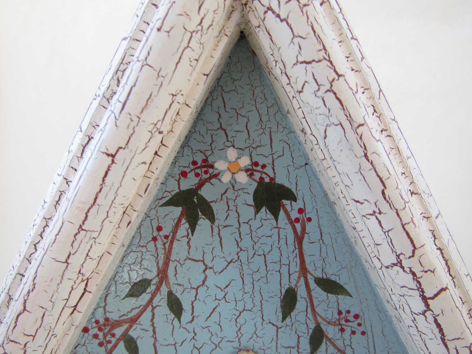 Wall Hanging, Wooden Bird House, Shabby Chic