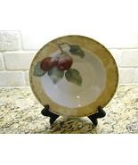 "222 Fifth Interiors Cheri Bloom Cortland 9 1/8"" Soup Bowl fruit Plum - $3.75"