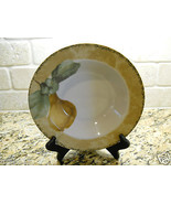 "222 Fifth Interiors Cheri Bloom Cortland 9 1/8"" Soup Bowl fruit PEAR - $3.75"