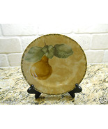"222 Fifth Interiors Cheri Bloom Cortland 8 1/8"" Salad Plate fruit PEAR - $3.75"